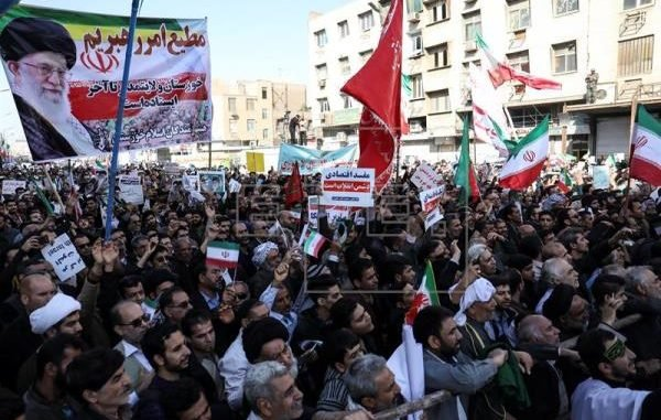 Tens Of Thousands March In Support Of Government & Khamenei In Iran