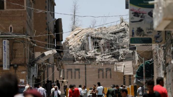 Over 90 Dead As Saudi Airstrikes Hit Yemen's Presidential Compound In Busy Residential Area