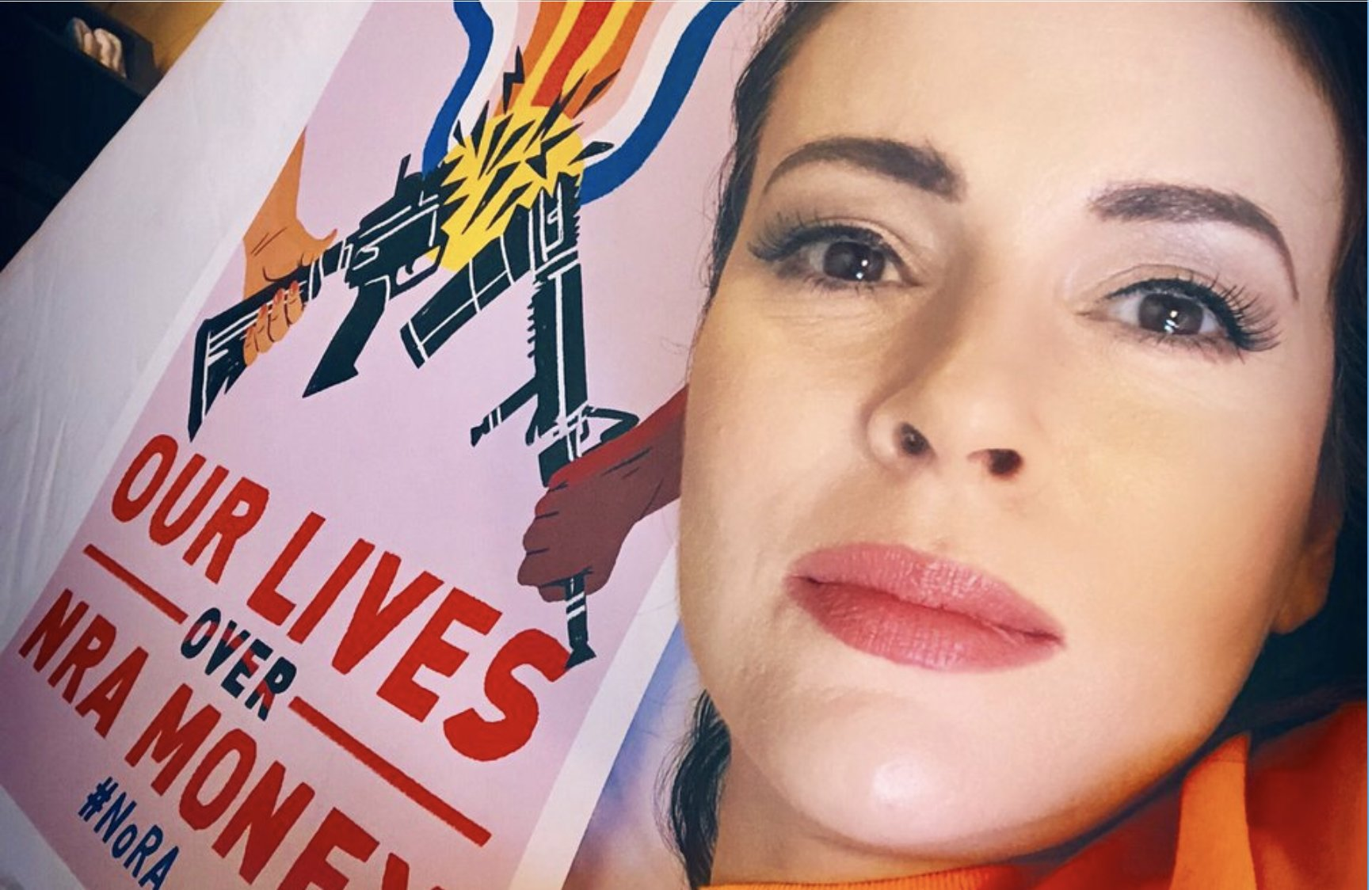 VIDEO: HOLLYWOOD ACTRESS ATTENDS ANTI-GUN PROTEST — WITH ARMED GUARDS