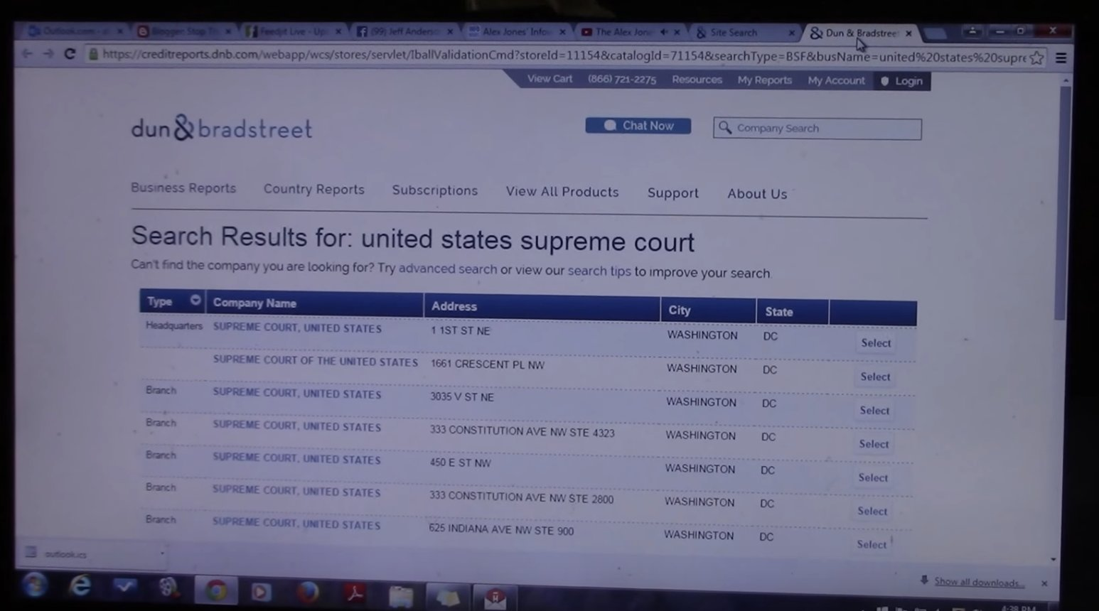 The Supreme Court is listed as a PRIVATE CORPORATION just like the rest of the federal government