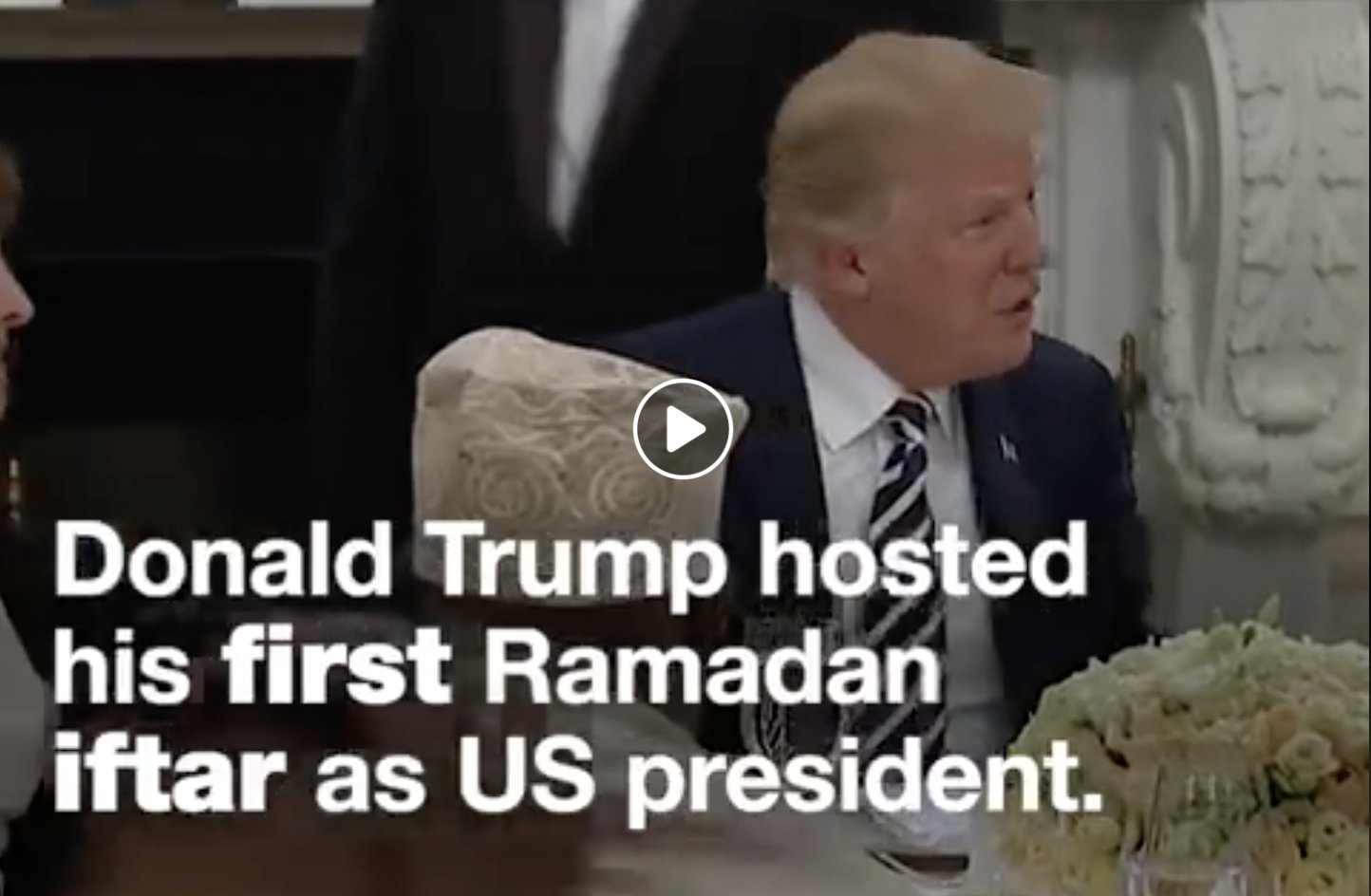Trump lambasts Muslims during campaign. Kisses their REARS as President by inviting them to the WHITE HOUSE for Ramadan Iftar!