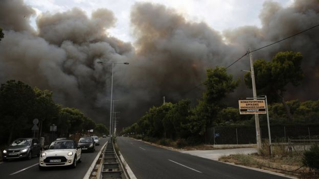Greece wildfires: Search continues after at least 74 killed