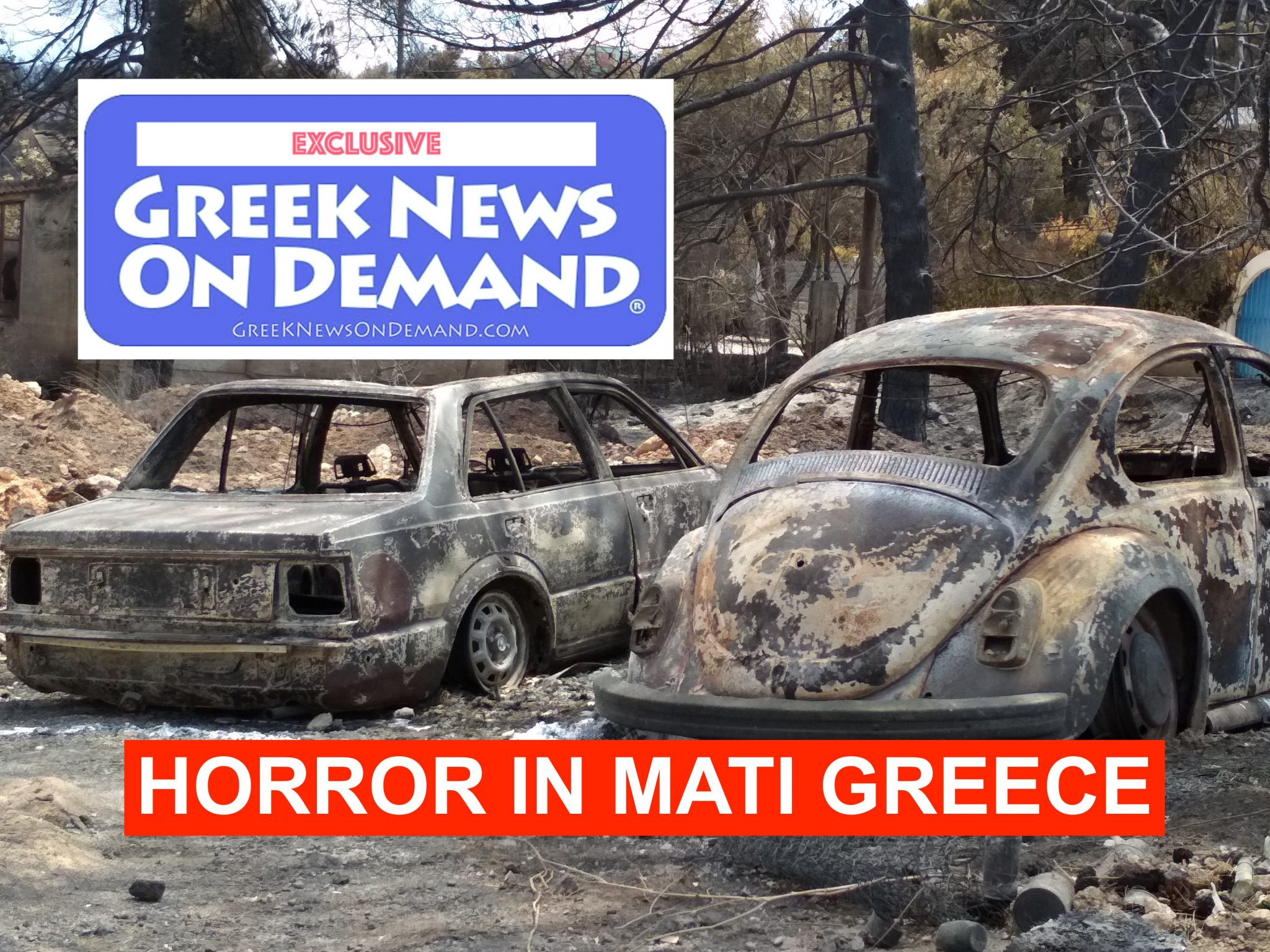 HORROR in Greece! Full coverage of the fires in Mati, Rafina and other areas where the fires torched whole towns!