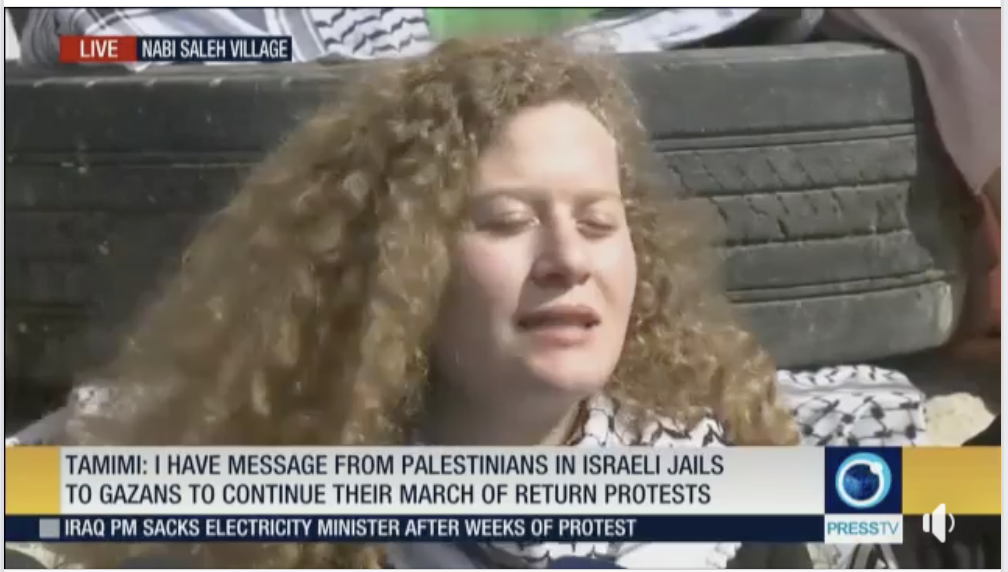 Tamimi turned into symbol of Palestinian resistance after confronting with Israeli soldier