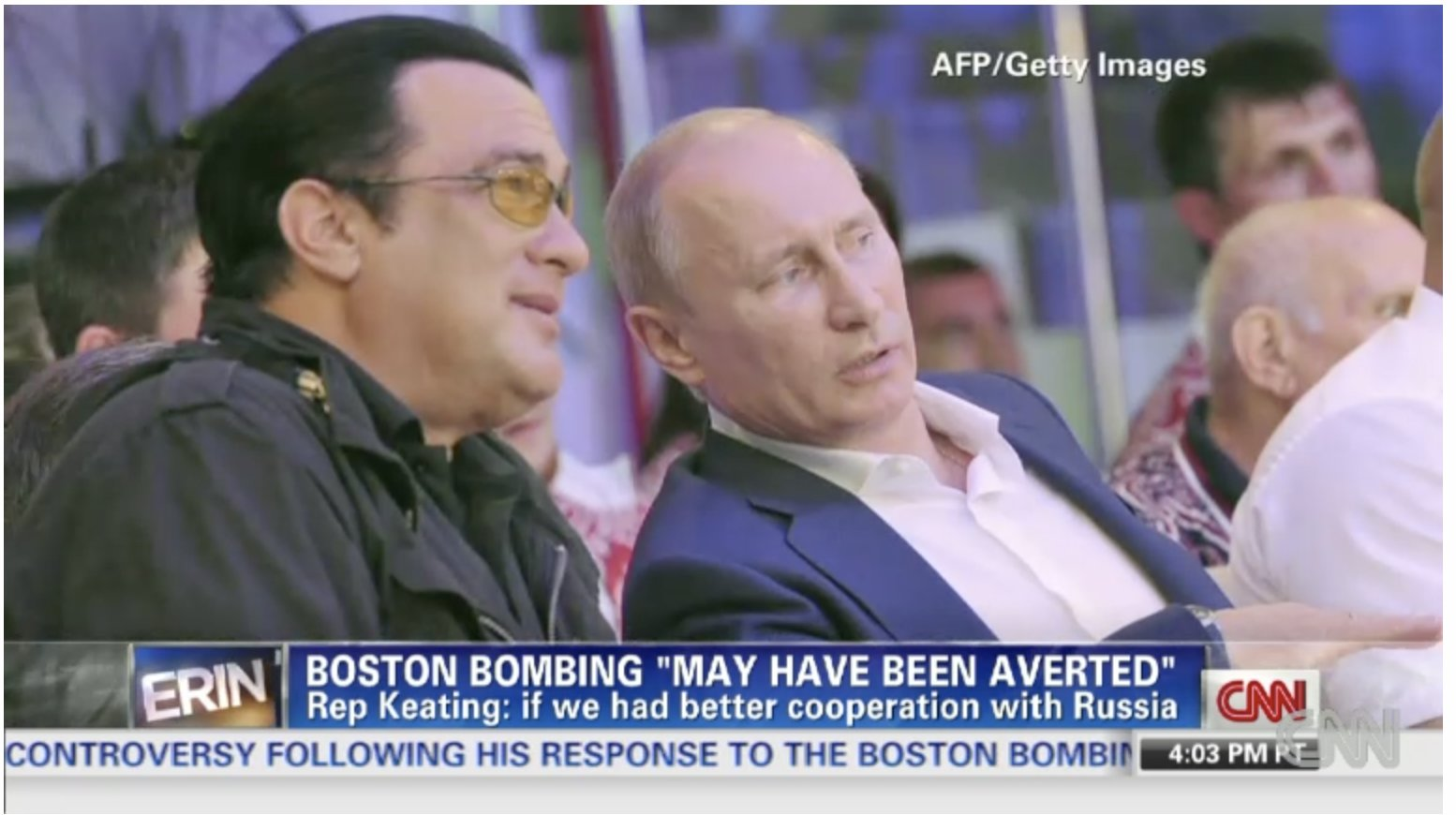 Actor Steven Seagal appointed Russian ministry's 'special representative' to discuss the Boston Bombing….HOAX….