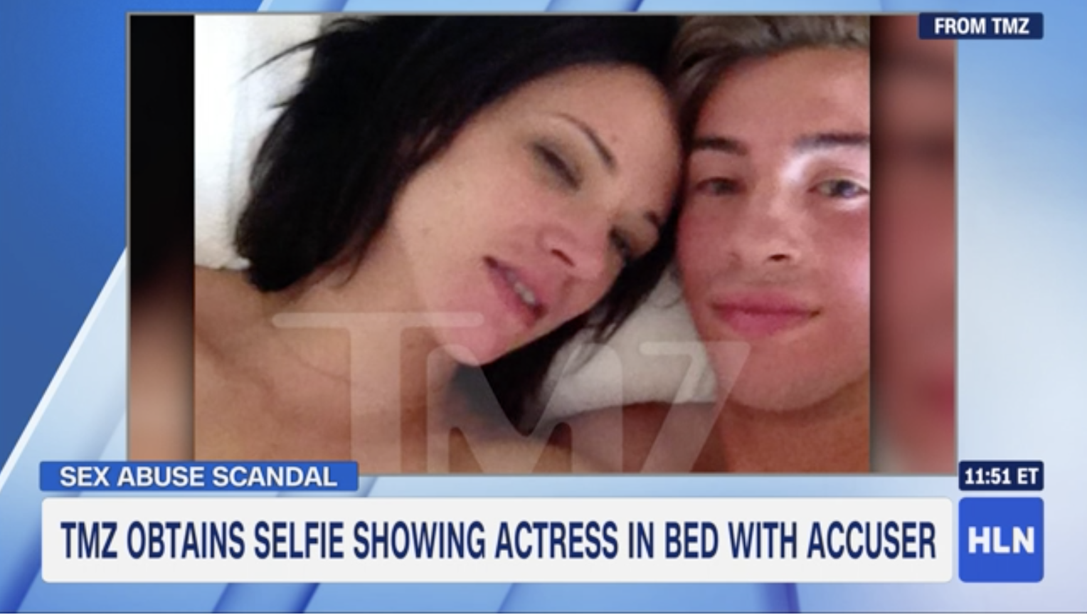 Photo of Asia Argento with 17-year-old actor surfaces