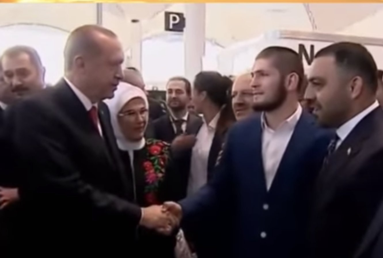 Khabib Nurmagomedov shows his true self. Meets with CRIMINAL Turkish president Erdogan!