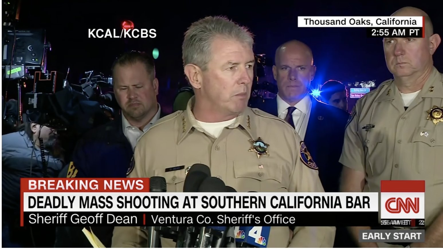 "Thousand Oaks: At least ""12 killed"" at California bar shooting. ANOTHER FAKE, FALSE FLAG SHOOTING."