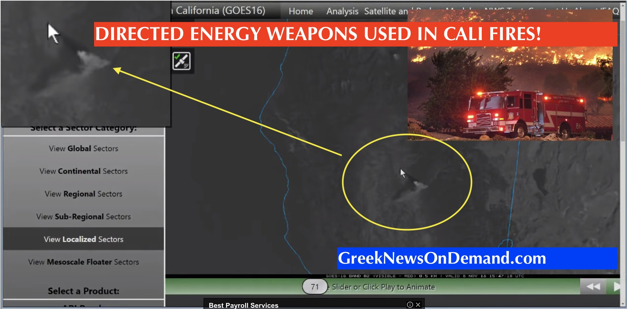 BOMBSHELL: DIRECTED ENERGY WEAPONS USED IN CALIFORNIA FIRES