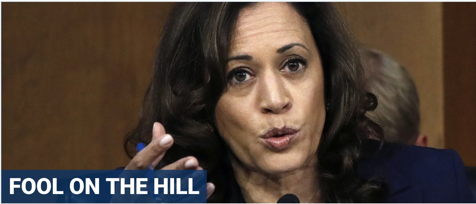 Outrage as presidential wannabe Harris likens ICE to hooded, cross-burning KKK racists in Senate hearing