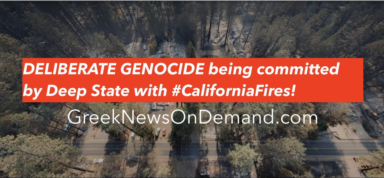 DELIBERATE GENOCIDE being committed by government with #CaliforniaFires! | #DirectedEnergyWeapons