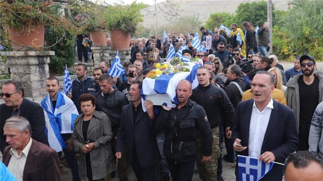 Hundreds Mourn at Katsifas Funeral in Albania (videos)
