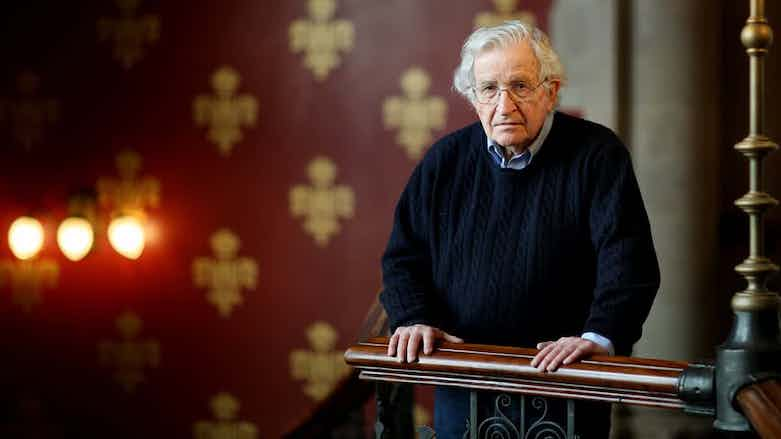 SNAKE Noam Chomsky says US should stay in Syria to protect the Kurds!