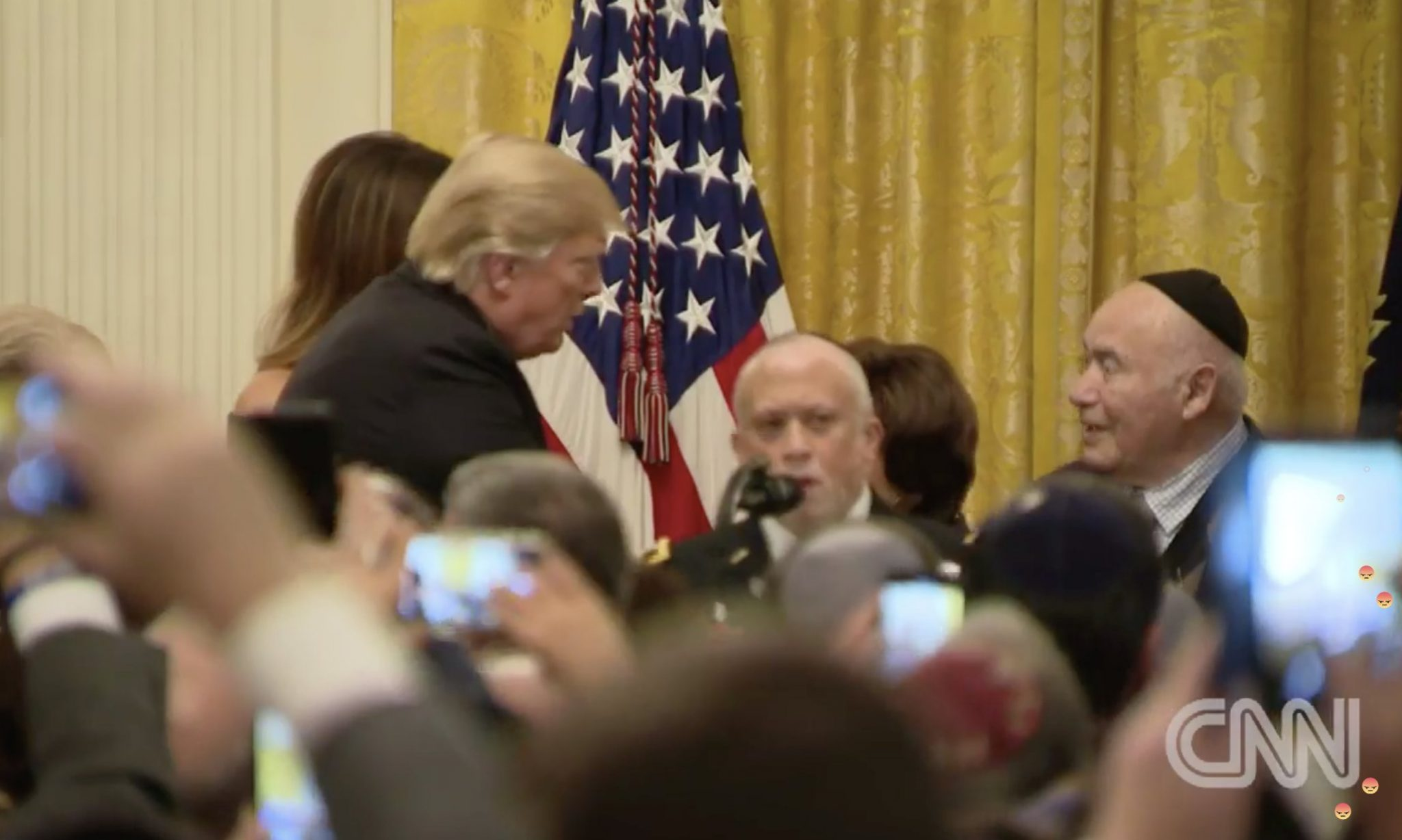 Trump at Hanukkah reception: Civilization is indebted to the Jewish people.