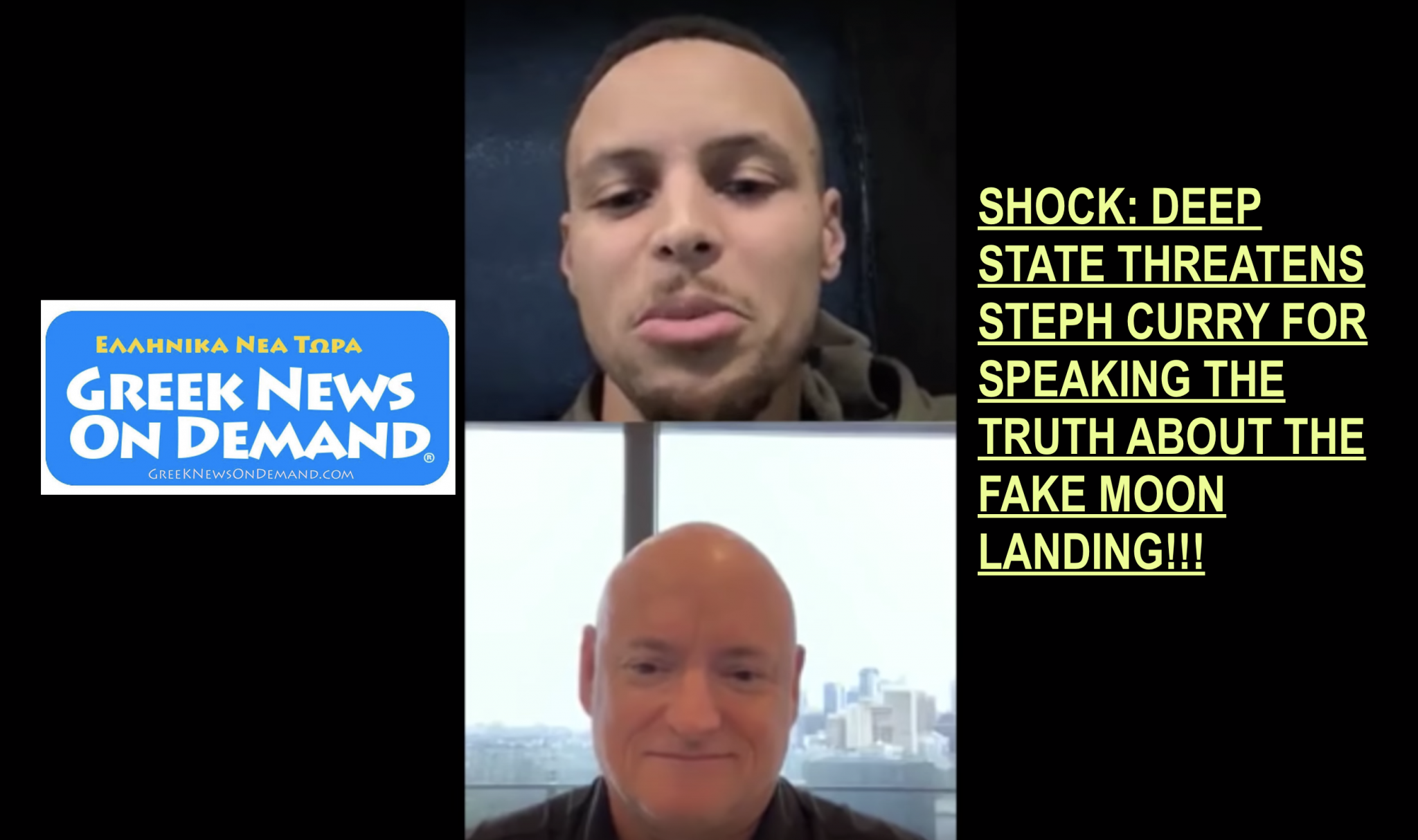 """Steph Curry forced to do interview with NASA for speaking THE TRUTH on FAKE """"moon landing"""""""