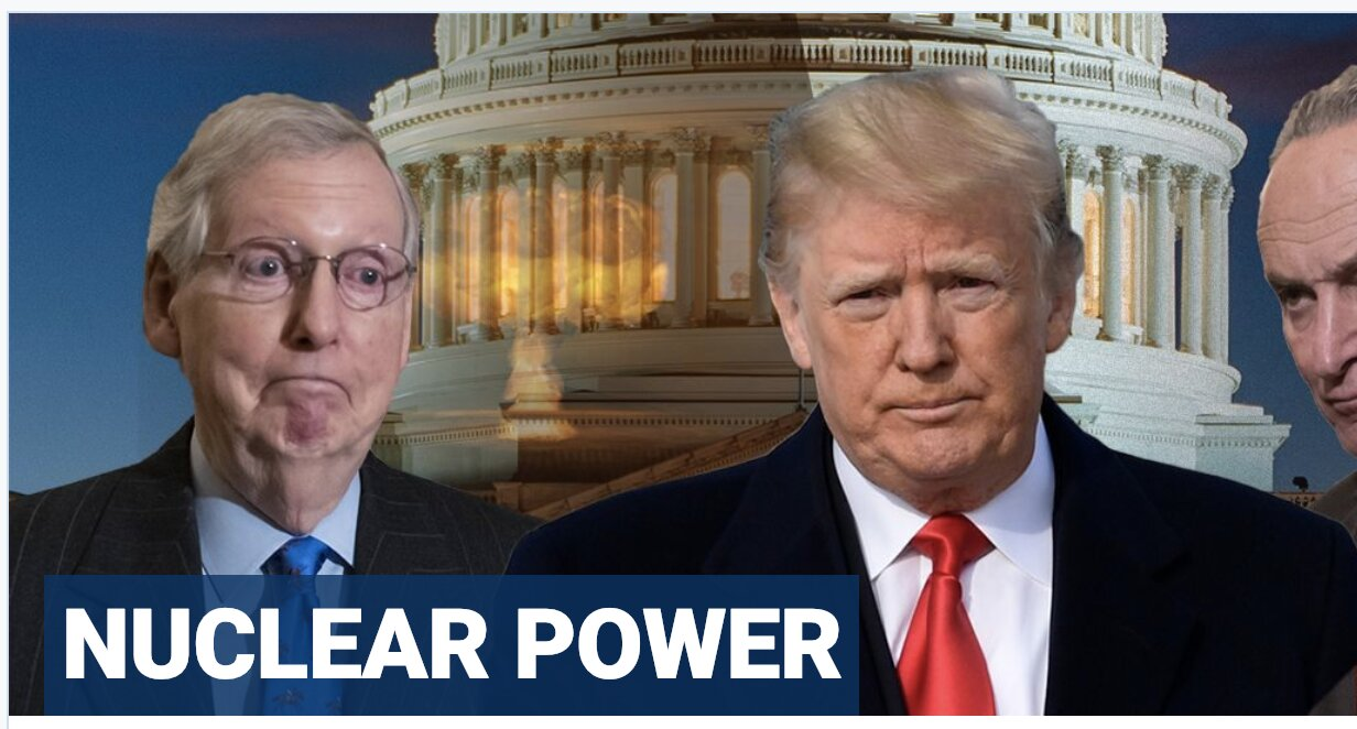 Trump urges McConnell to let Senate majority rule, pass wall funding