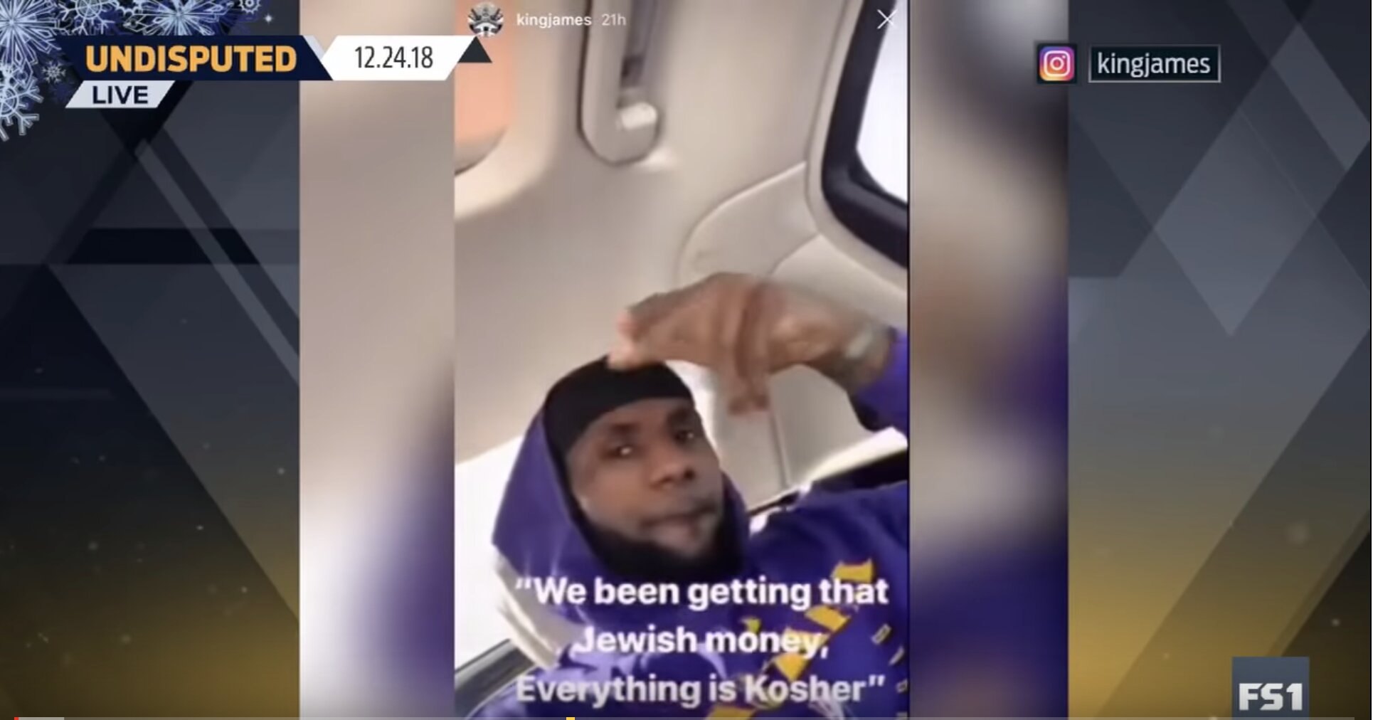 LeBron James apologizes for Instagram post quoting 'Jewish money' lyrics | UNDISPUTED