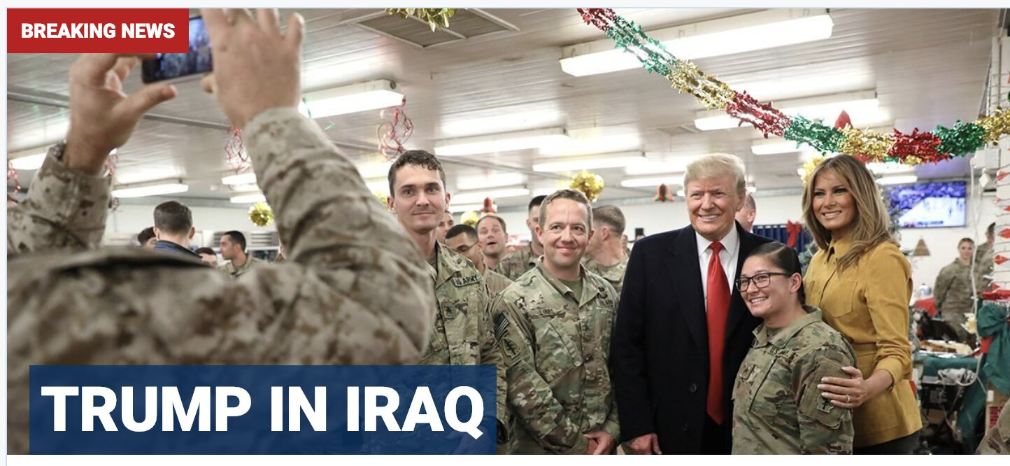 President, first lady make surprise visit to troops 'to wish them a Merry Christmas' and B/S THEM!