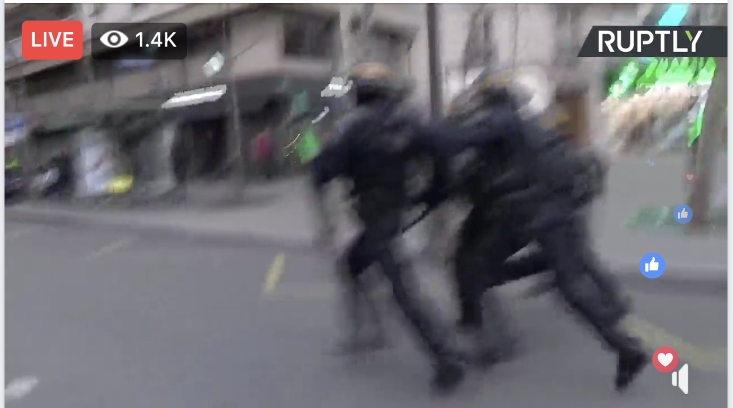 #YellowVest protests hit Paris for the seventh week in a row. French Police beat protestors mercilessly! !
