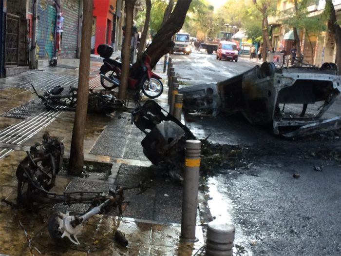 Athens and Thessaloniki Like War Zones After Thursday Riots
