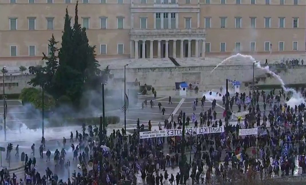 Video: Clashes Erupt After Macedonia Rally in Athens