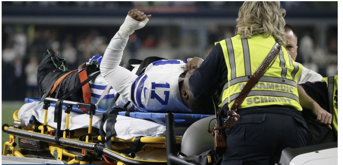 GRAPHIC VIDEO WARNING: Cowboys' star suffers horror injury in playoff win