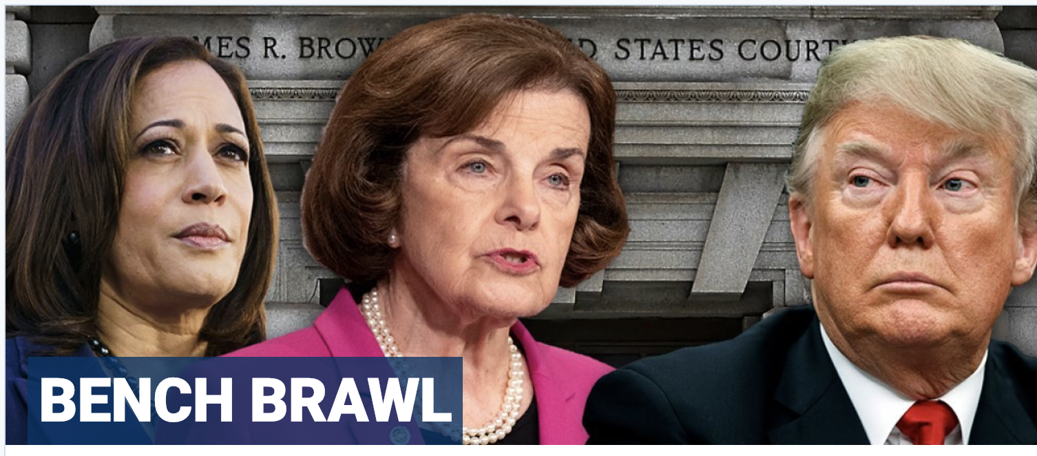Harris, Feinstein fume after White House re-nominates two conservative California judges
