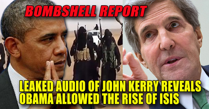 BOMBSHELL: John Kerry admits to Obama's Plot to Disrupt Syria and Middle East by allowing ISIS to grow! (2013)
