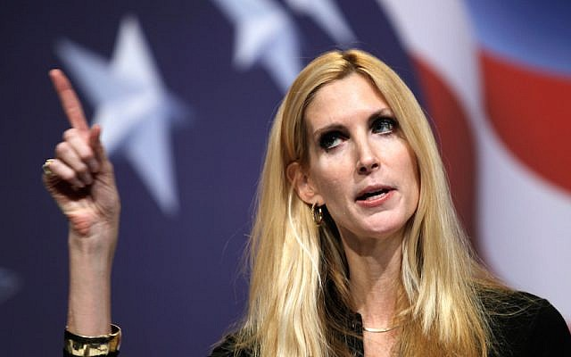 Ann Coulter says Jews, like rest of Democratic base, 'hate white men'
