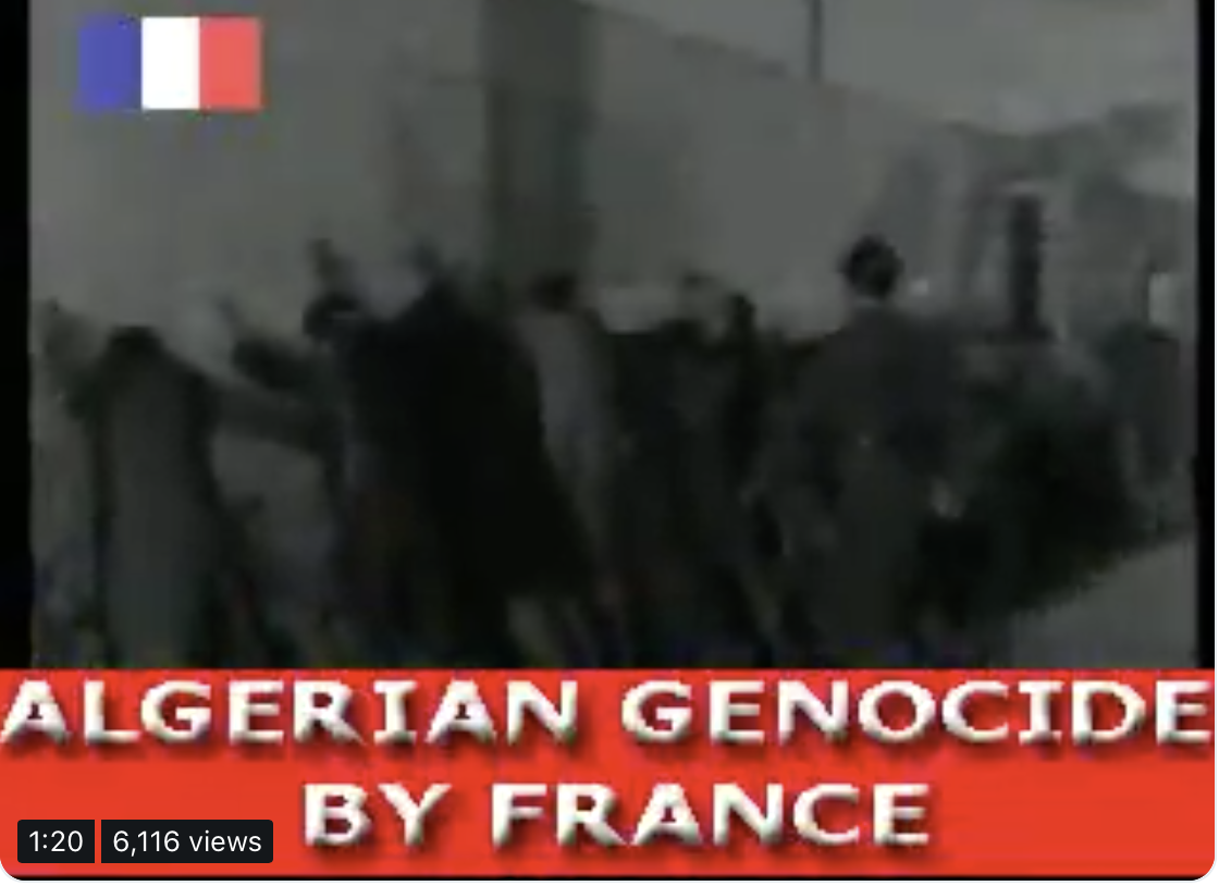 #Macron makes #Armeniangenocide a national holiday, yet #France won't acknowledge the Algerian genocide of '62!