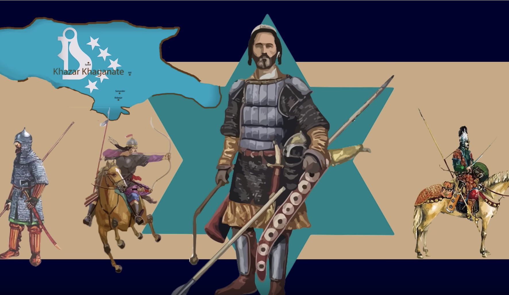 Neglected History: The Khazar Khaganate. The Jews' lost empire which they won't talk about