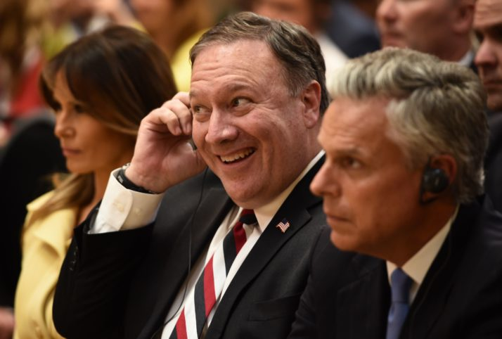 STRAIGHT RETARD: Pompeo says 'it's possible' Trump was sent to save the Jewish people