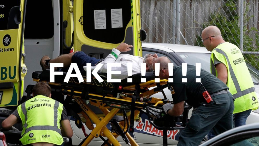 Another FAKE, FALSE FLAG attack in New Zealand! WAKE UP, WORLD! #NewZealandShooting #christchurchshooting