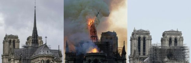 Notre-Dame fire: Cathedral saved within crucial half hour