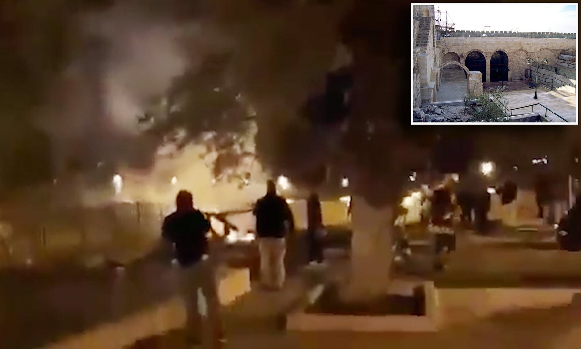 JERUSALEM'S AL-AQSA MOSQUE FIRE BURNS AT THE SAME TIME AS FLAMES ENGULF NOTRE DAME CATHEDRAL IN PARIS