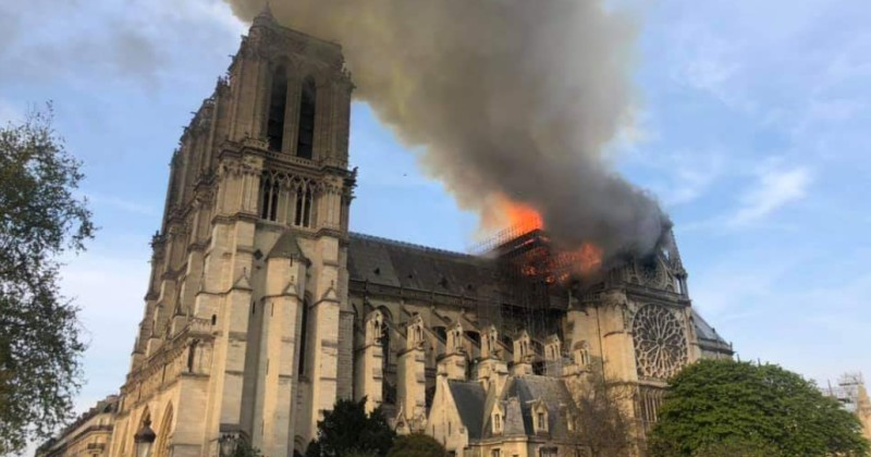 """Notre Dame Cathedral in Paris on Fire, Worker Claims it Was """"Deliberately"""" Started"""