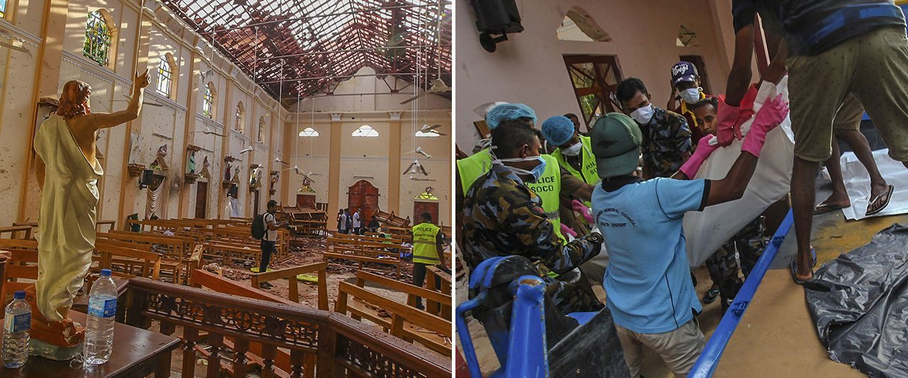 Simultaneous blasts at multiple churches and hotels rock Sri Lanka, death toll climbs past 200