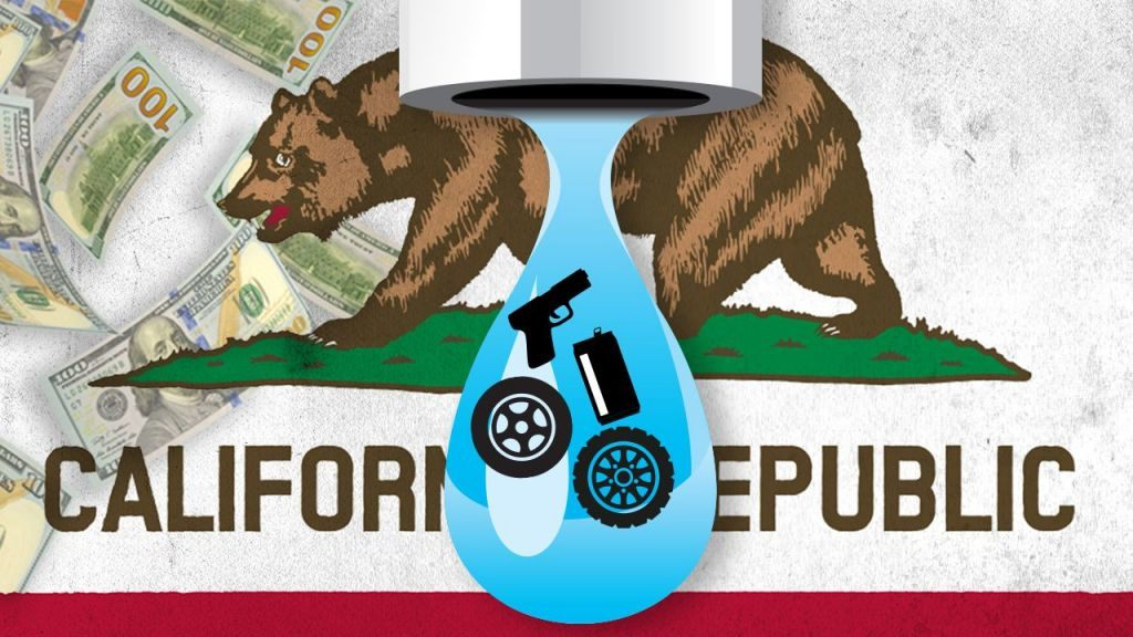California goes tax wild, eyes levies on everything from water to tires