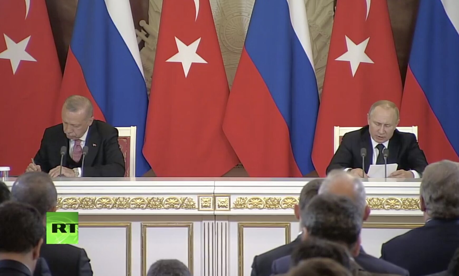 Putin and Erdogan hold joint press conference
