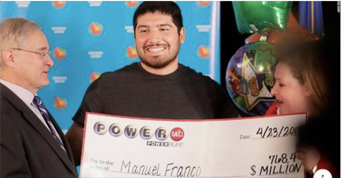 A 24-year-old man has come forward to claim the third-largest jackpot in US lottery history