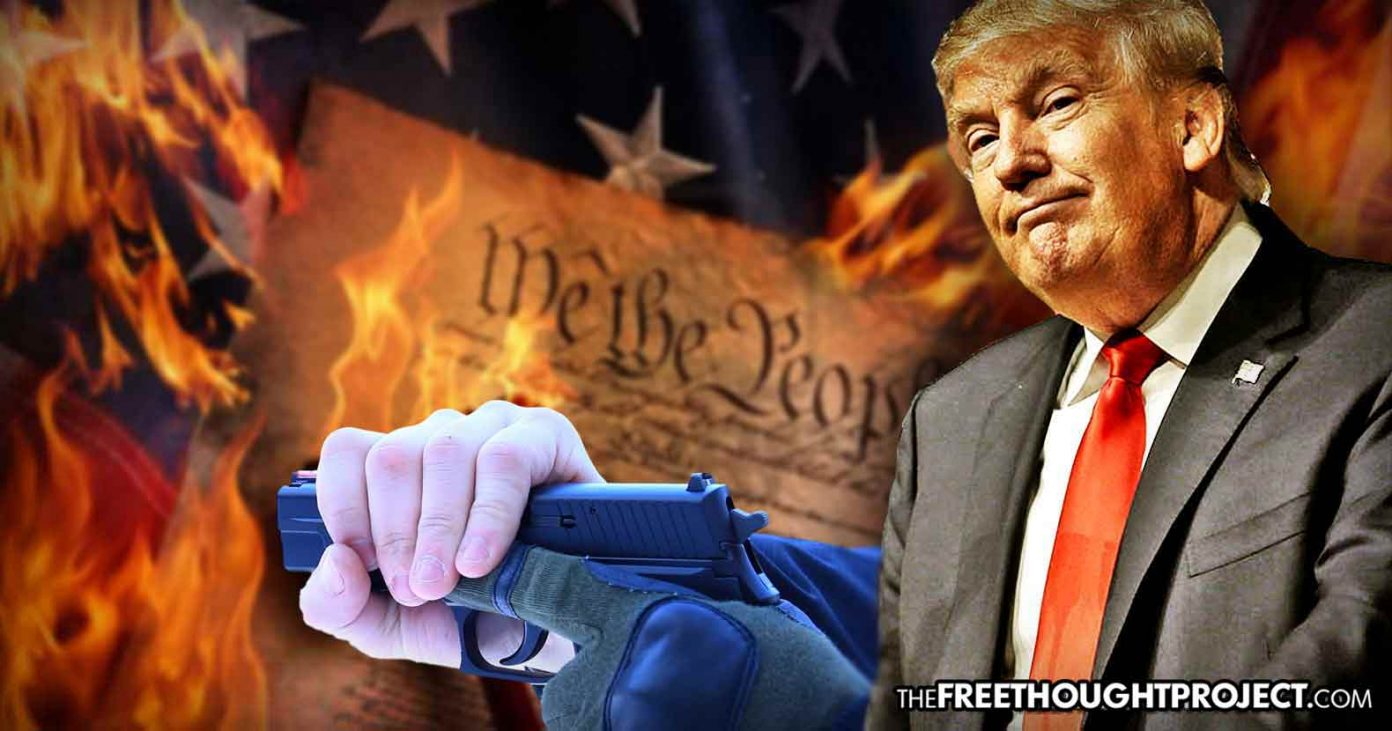 Trump Tells NRA, 'The Left is Coming for Your Guns' As He's Been Quietly Taking Your Guns All Along