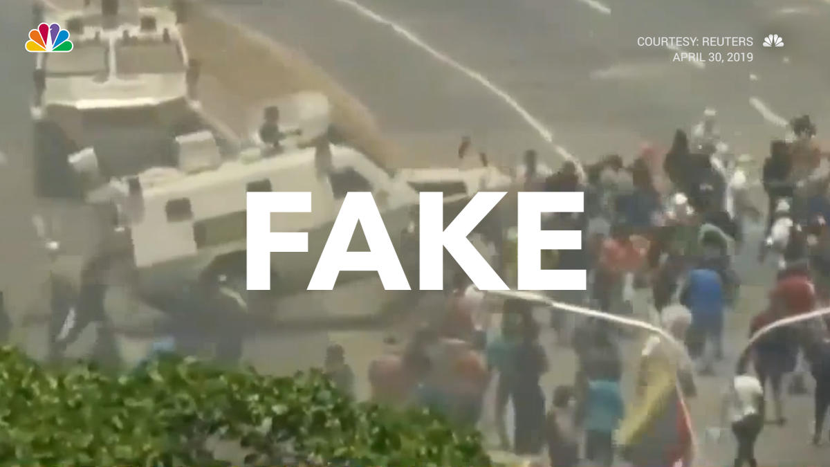 Venezuela: Fake Video of Armored Car Running Over Protesters