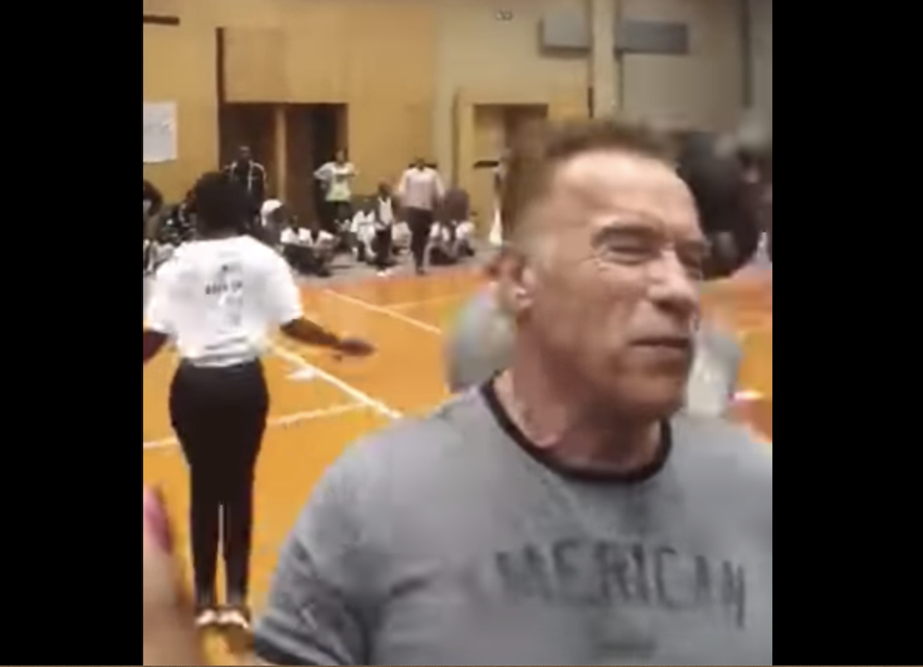 Arnold Schwarzenegger struck by kicking attacker in South Africa (VIDEO)