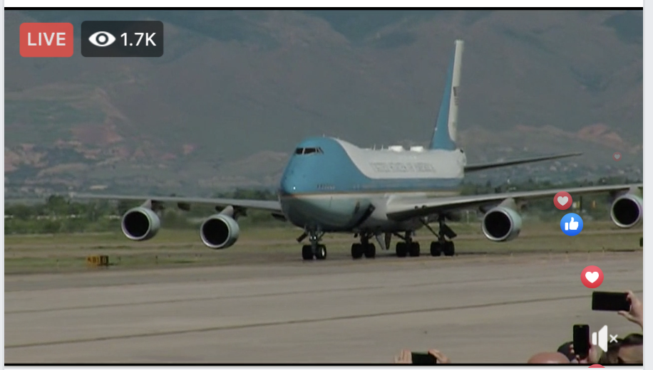 President Trump arrives in Colorado ahead of his remarks at the Air Force Academy graduation ceremony. (Courtesy: KXRM)