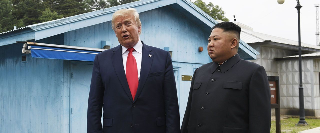 Trump becomes first US president to cross into North Korea as he meets Kim at DMZ