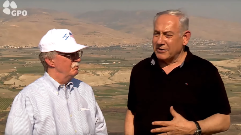 WORM Netanyahu to Bolton: Any Palestine deal 'must include' Israeli presence in Jordan Valley