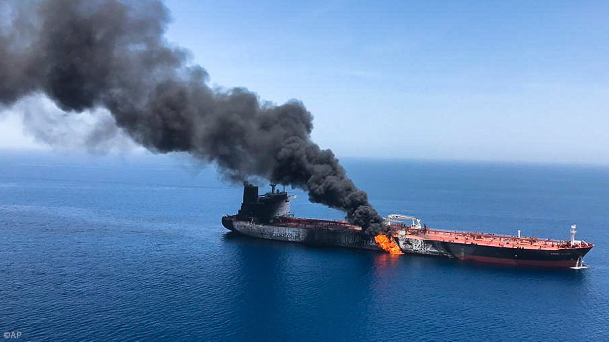 IRAN ACCUSES AMERICA OF FALSE FLAG… Iran accuses the US of LYING about the 'suspicious' attack on American-linked oil tanker and denies ordering 'torpedo' assault