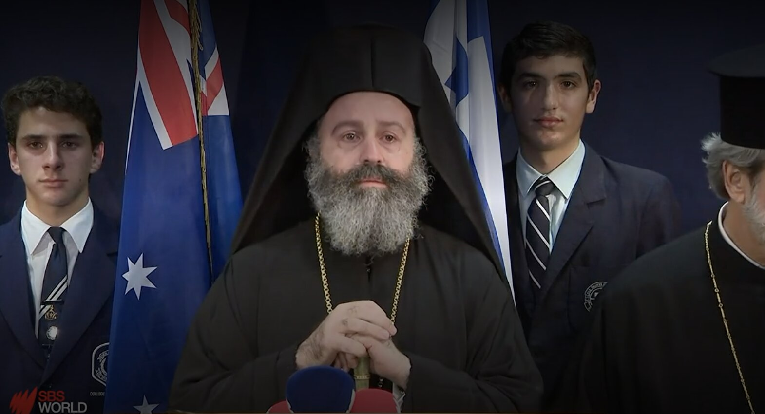 A huge welcome for the new leader of Australia's Greek Orthodox church