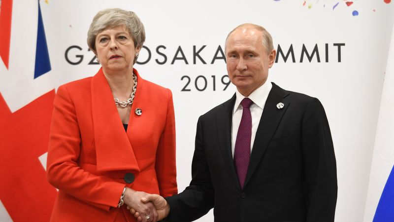 Theresa May: Salisbury poisoning suspects must face justice. PM tells Putin Salisbury attack 'can never be repeated'