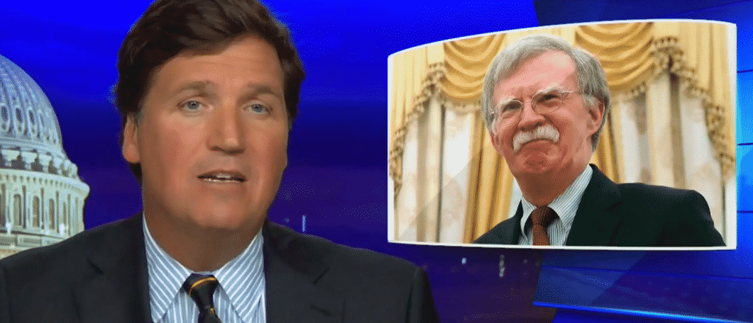 """Tucker Carlson: Warmongers are """"stupid"""" and """"tapeworm[s]"""""""